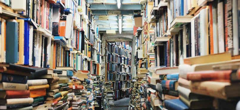 linke buecher bild bibliothek