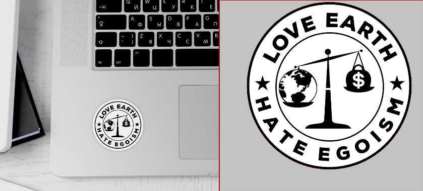 love-earth-sticker
