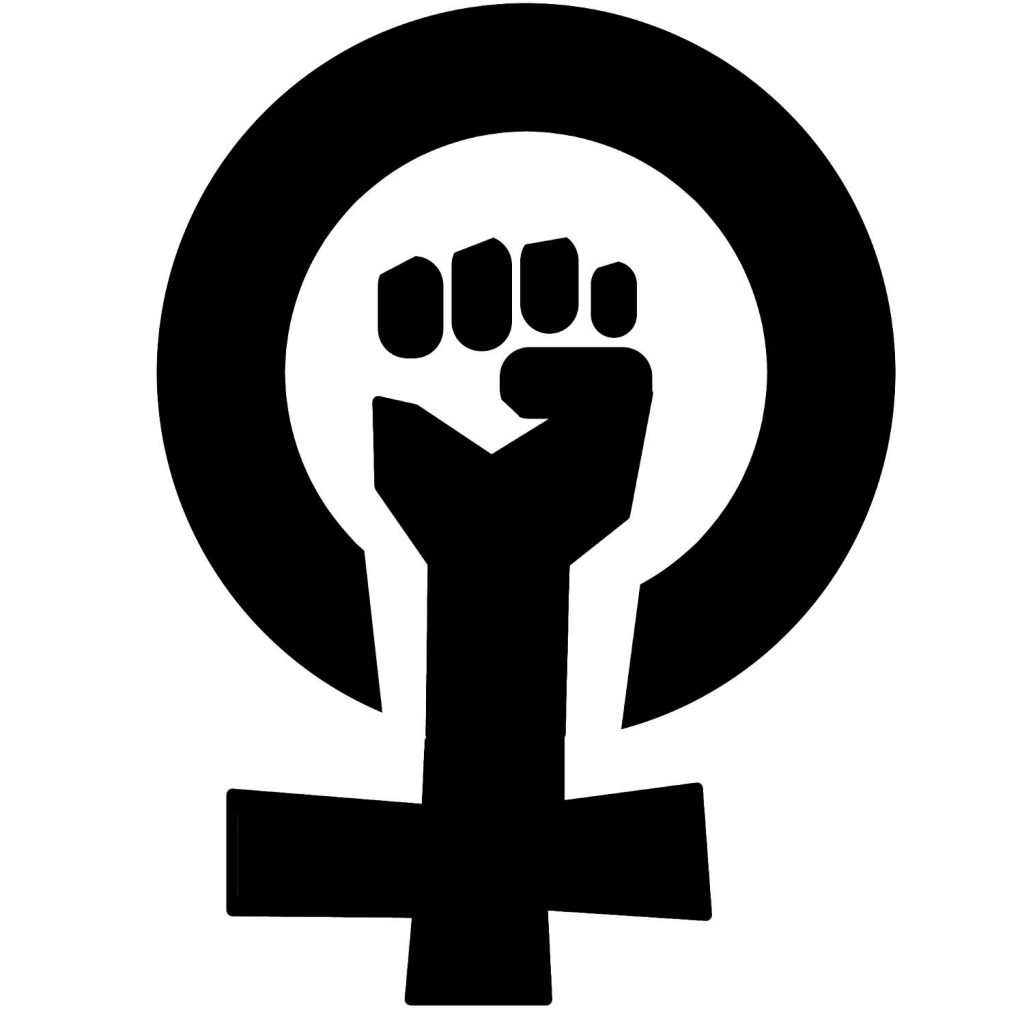 feminismus-symbol: stencil