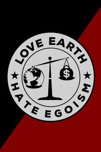 love earth flagge poster