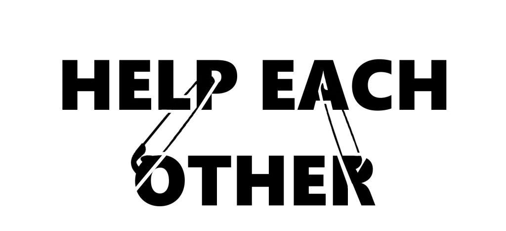 help each other stencil