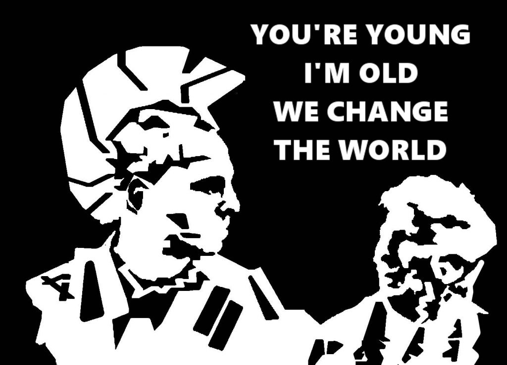 young-old world change stencil