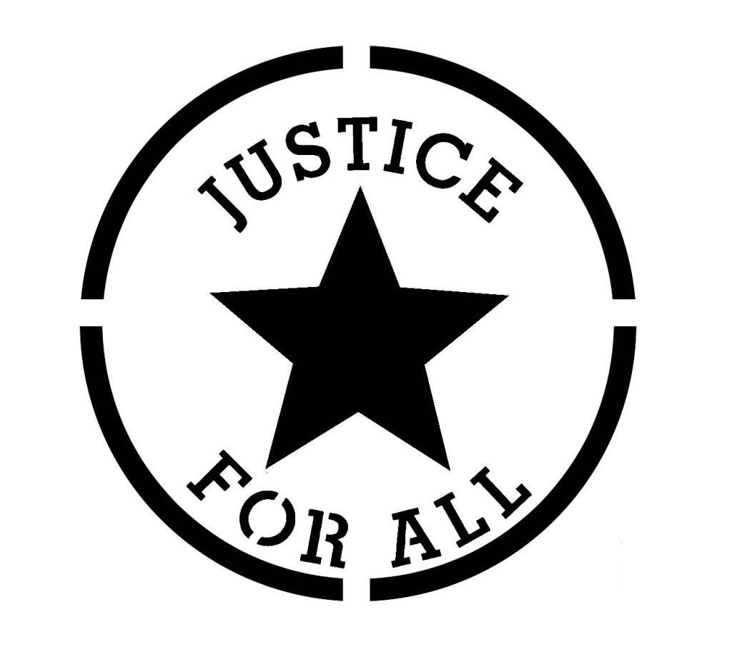justice for all stencil vorlage