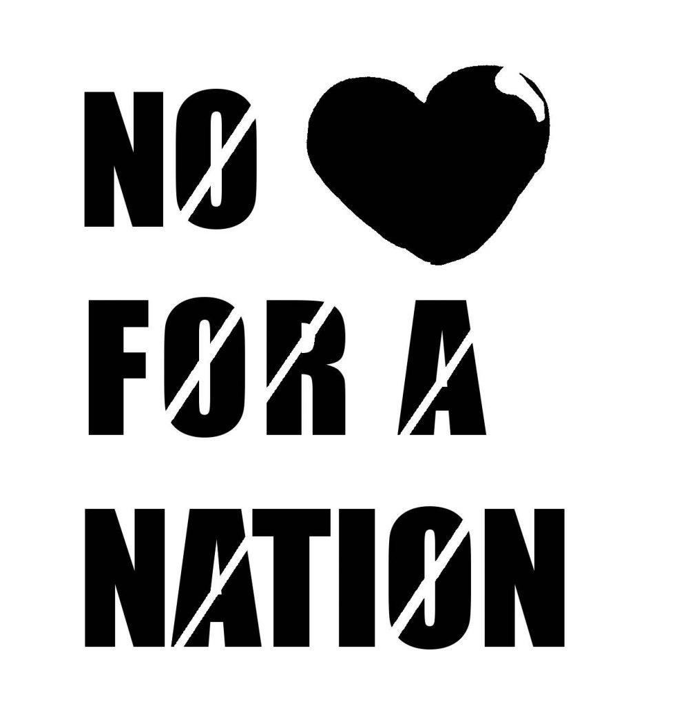 no love for a nation stencil