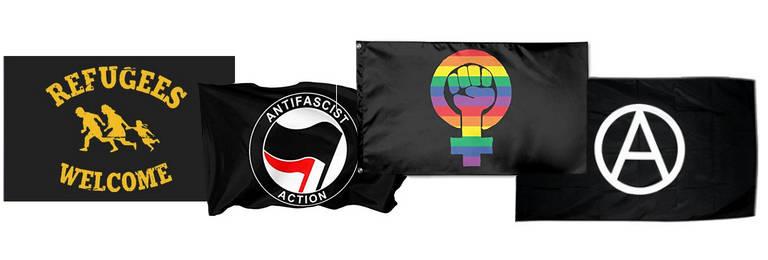 antifa rebel sozialist fahnen