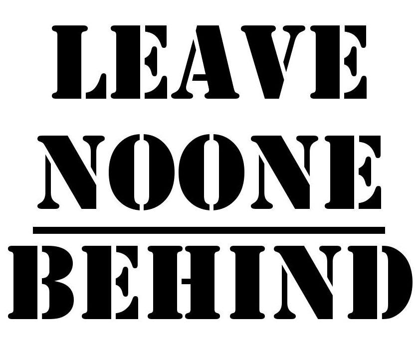 leavenoonebehind stencil