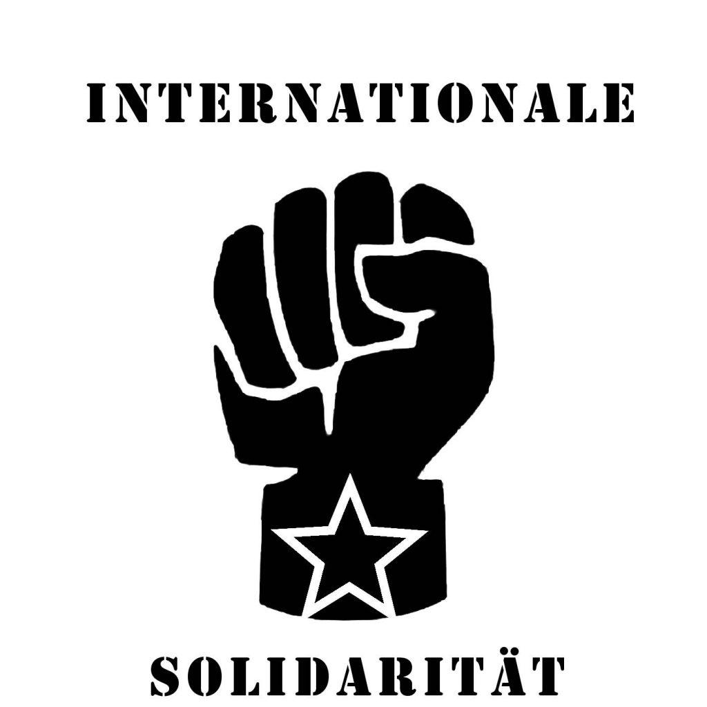 internationale solidarität stencil