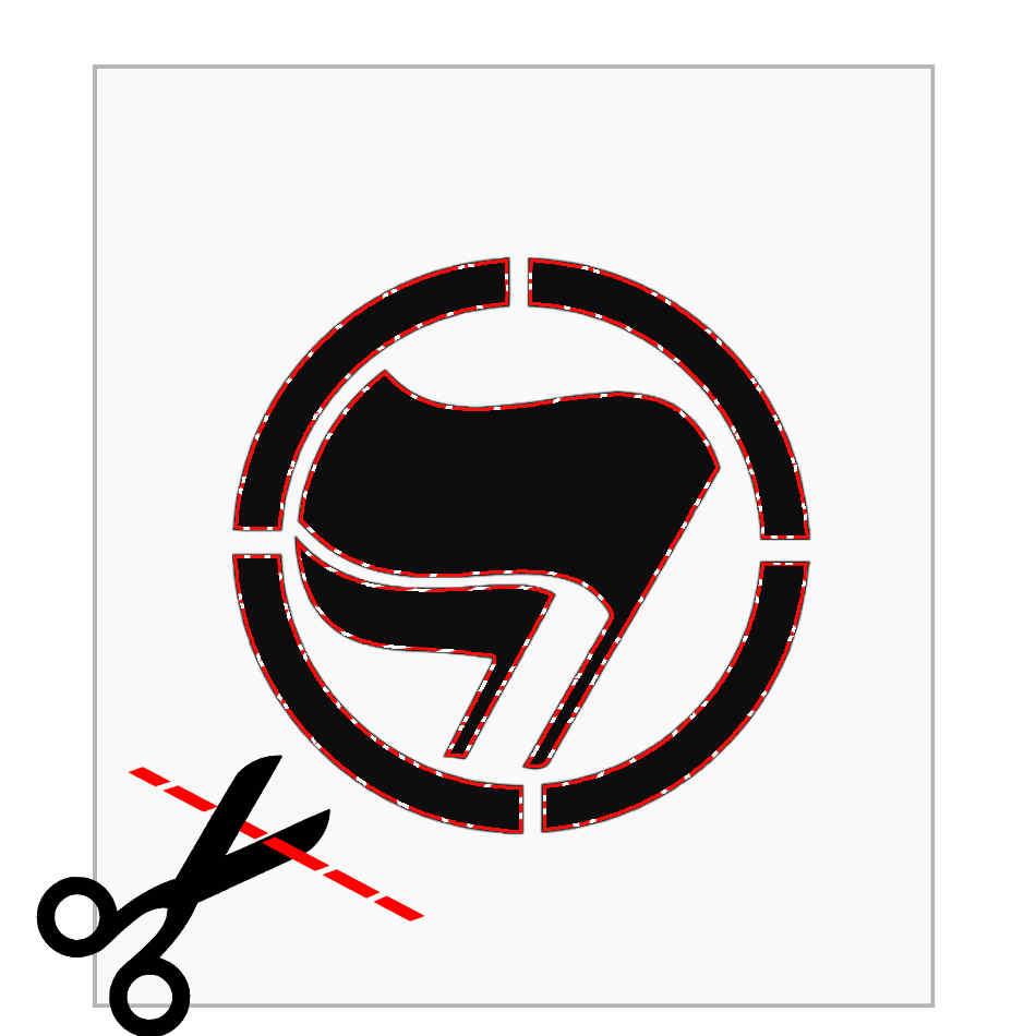 Stencil Ausschneiden