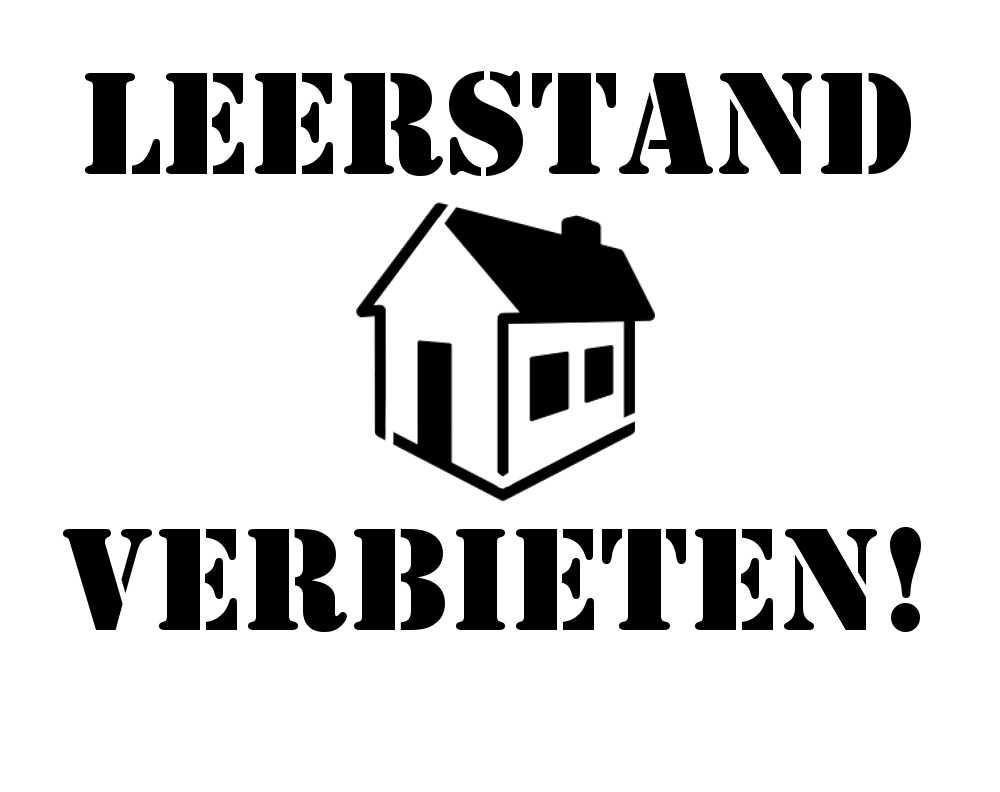 Leerstand verbieten Stencil Vorlage